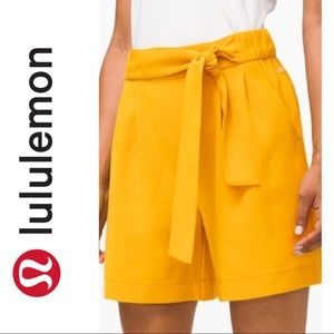 NWT Lululemon Mustard Yellow Noir Shorts
